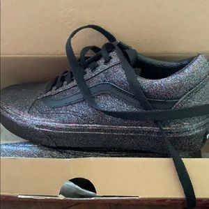 Vans girls sparkly shoes